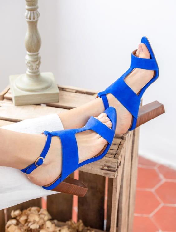 Gabie heeled sandals - Lagon