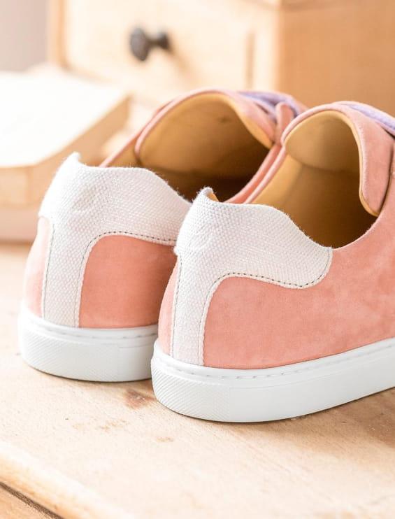 Velcro Sneakers - Peach