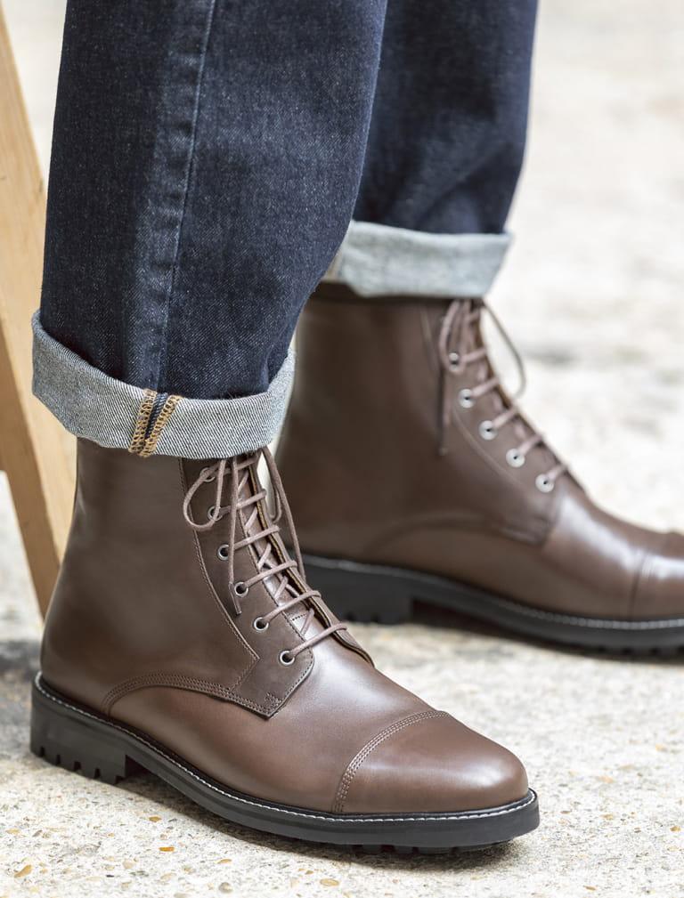 Commando combat boots  - Ebony