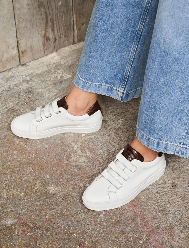 Sam Sneakers - White et Mahogany