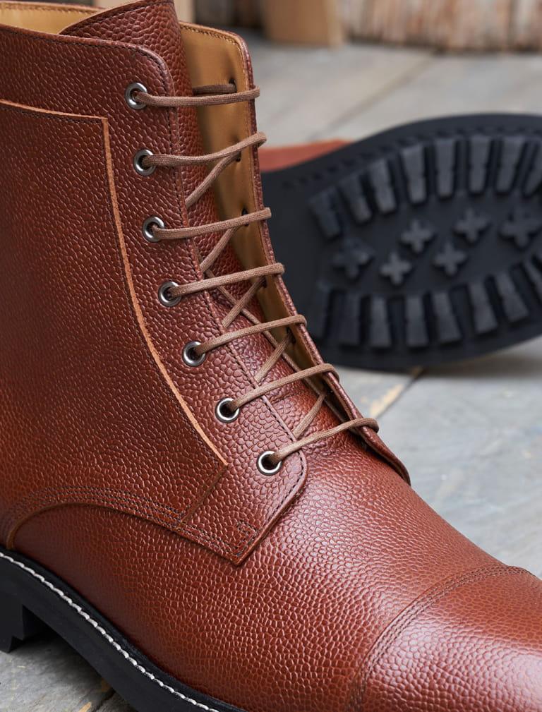 Commando Combats boots - Cognac