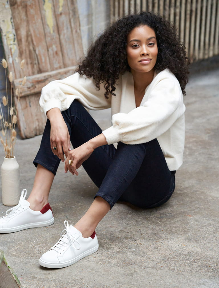 Olivia Sneakers - White and Rust