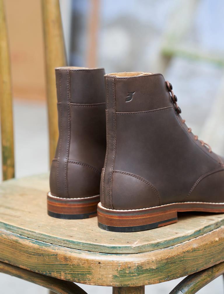 Combat boots - Cocoa