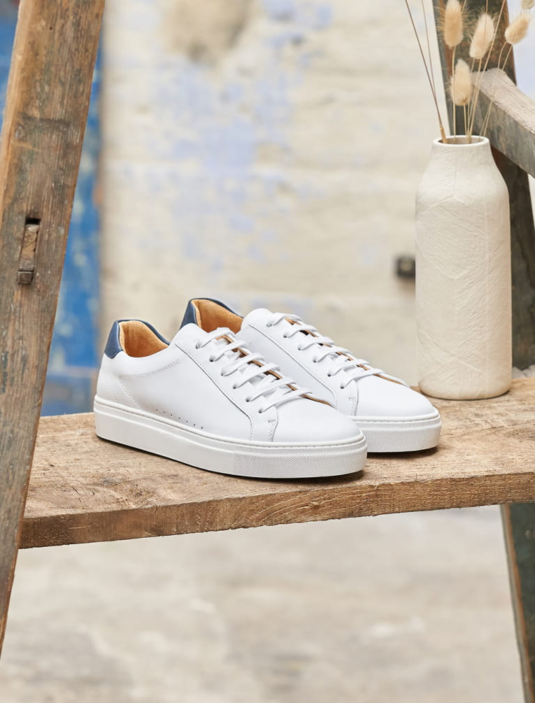 Camille Sneakers - White and Blue