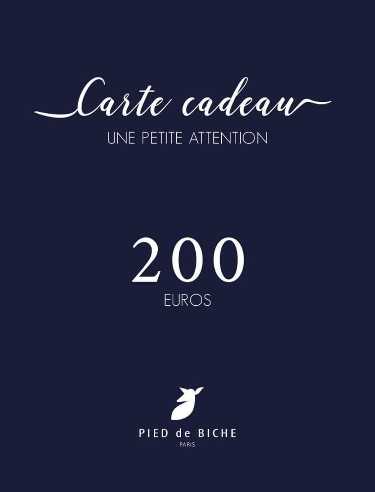 Gift card 200 euros