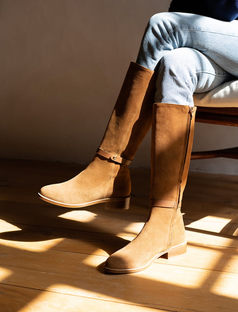 Yséa Flat Boots - Cognac