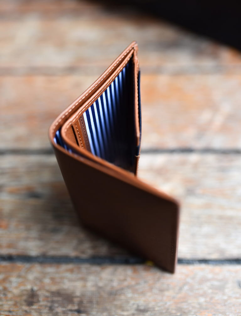Wallet - Coffe and blue