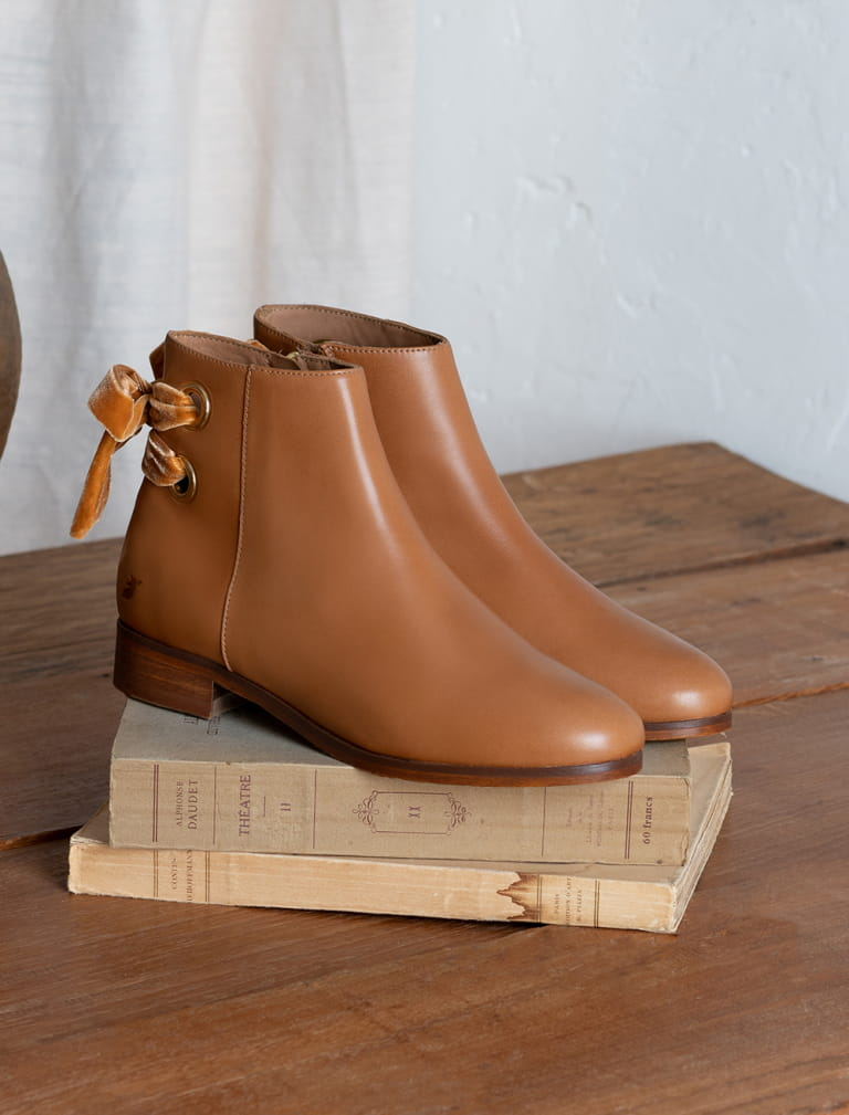 Bottines Emilia - Cognac