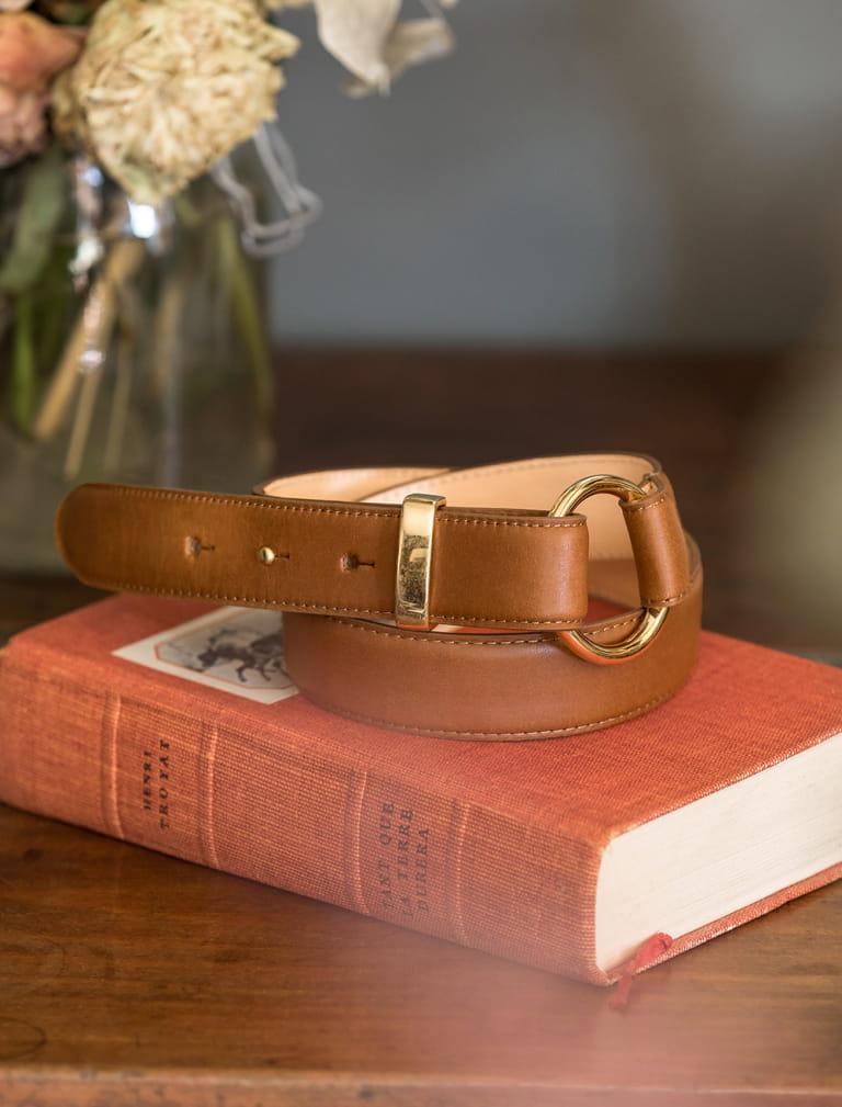Classic belt - Cognac