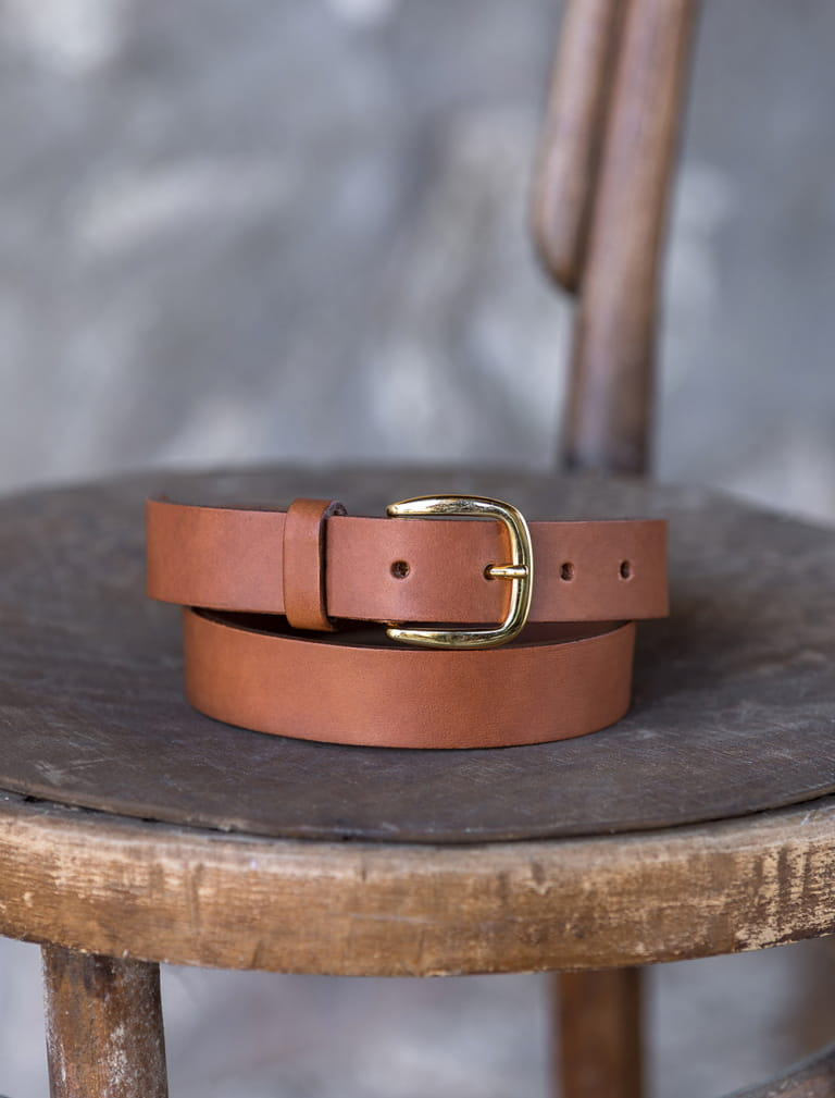 Raw belt - Cognac