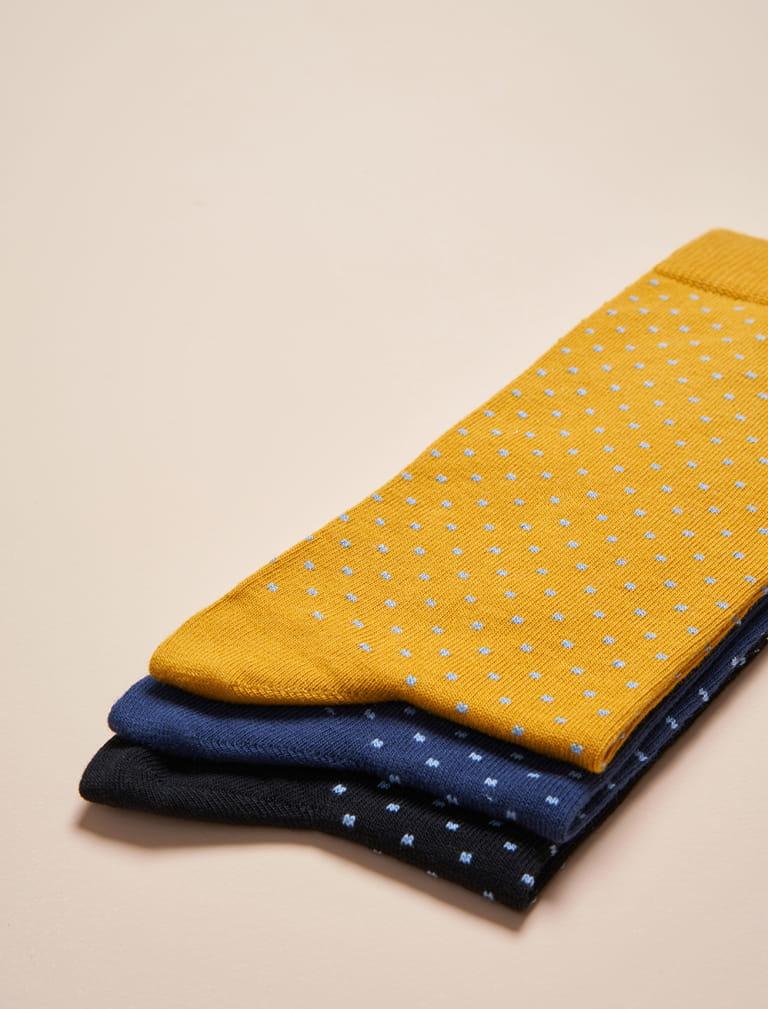 Chaussettes à Pois - Trio Homme