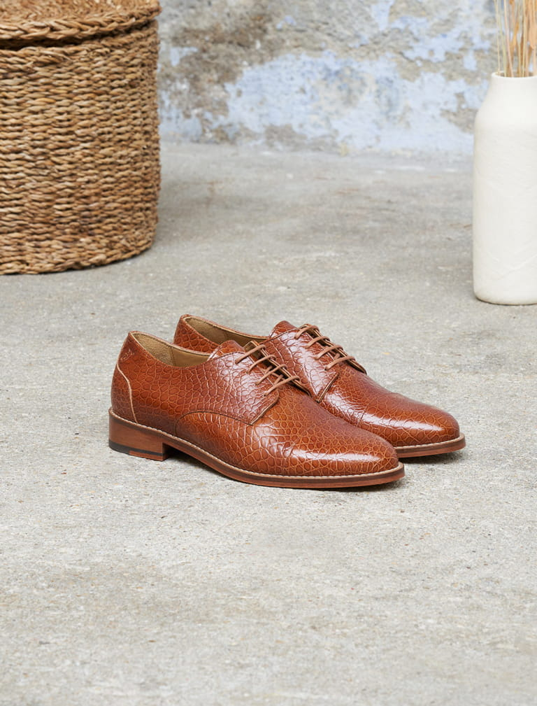 Derbies Garance - Cognac Écaille