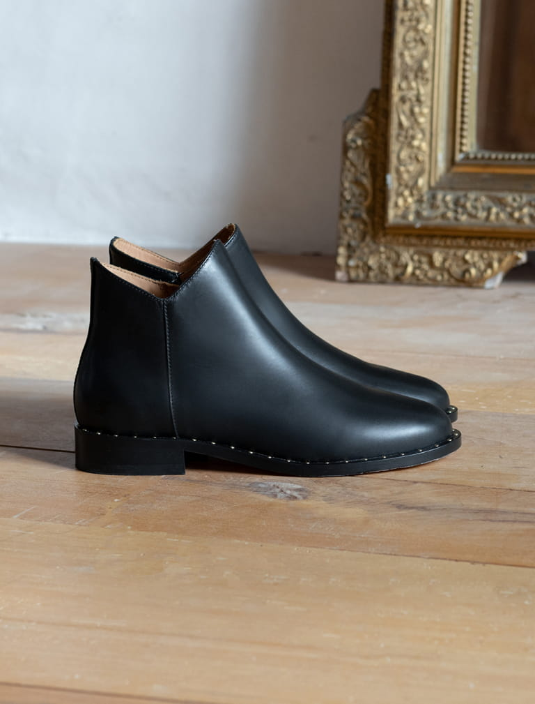 Bottines Gäelle - Noir rivets