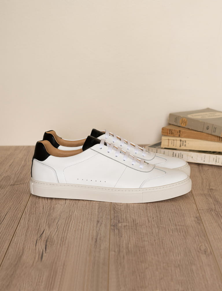 Sneakers Rick - White and black