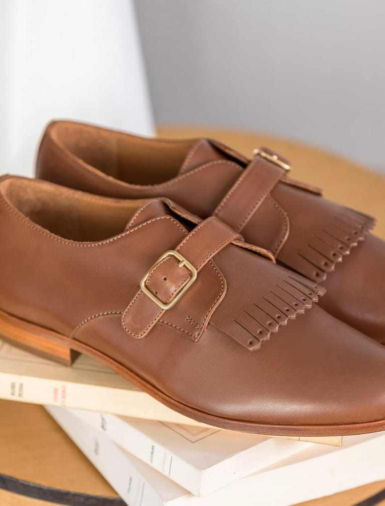 Buckle Derbies - Cognac