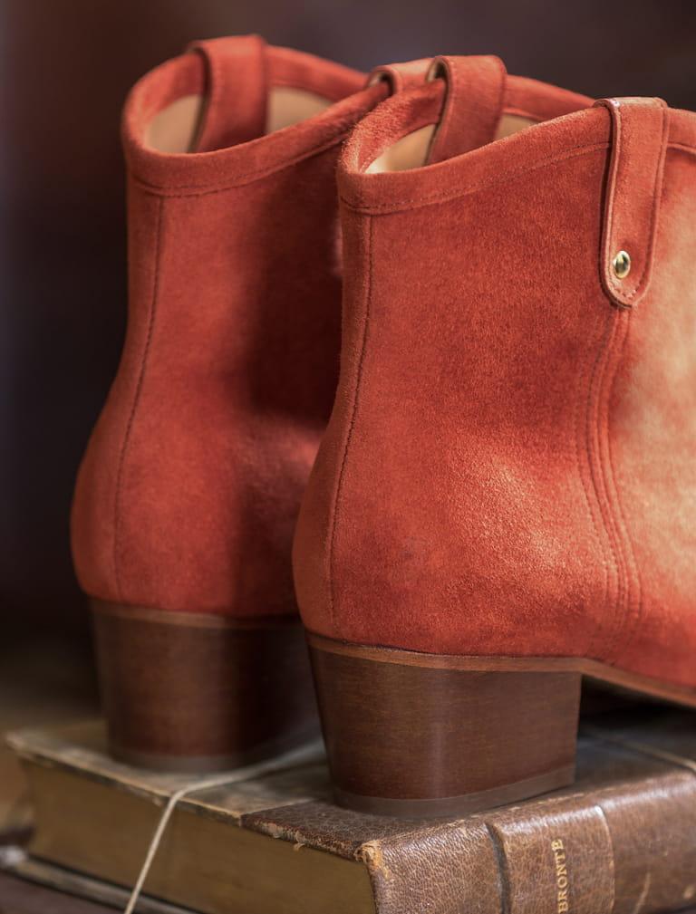 Bottines à talons Amber - Terracotta