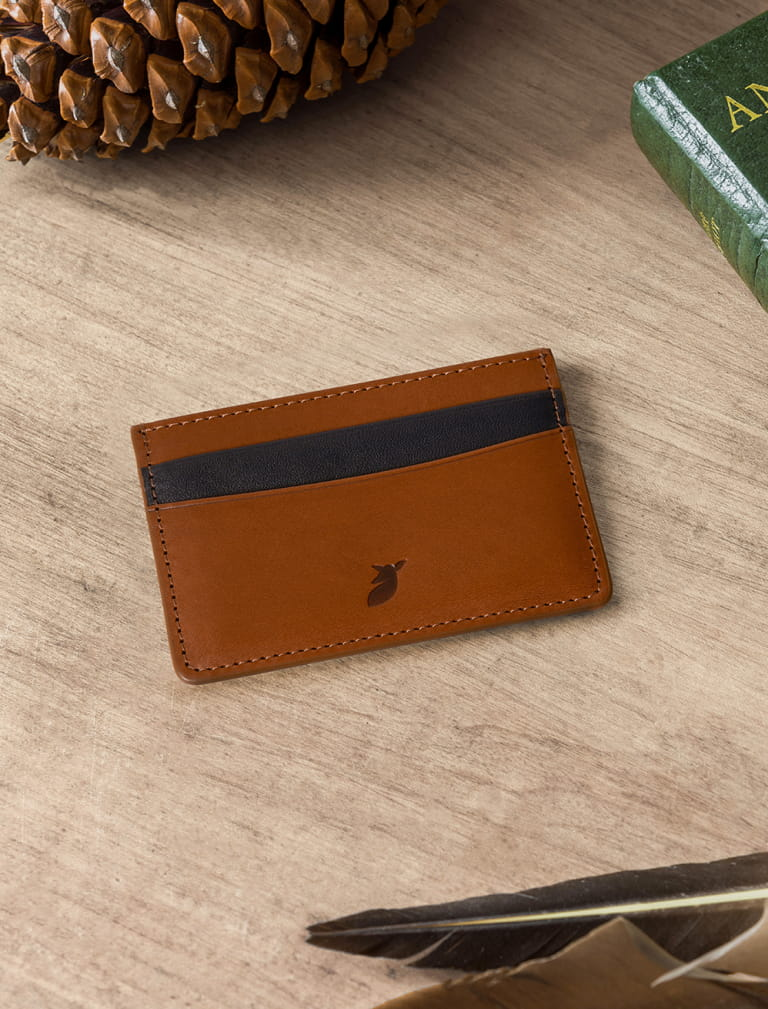 Card holder - Havana and Blue