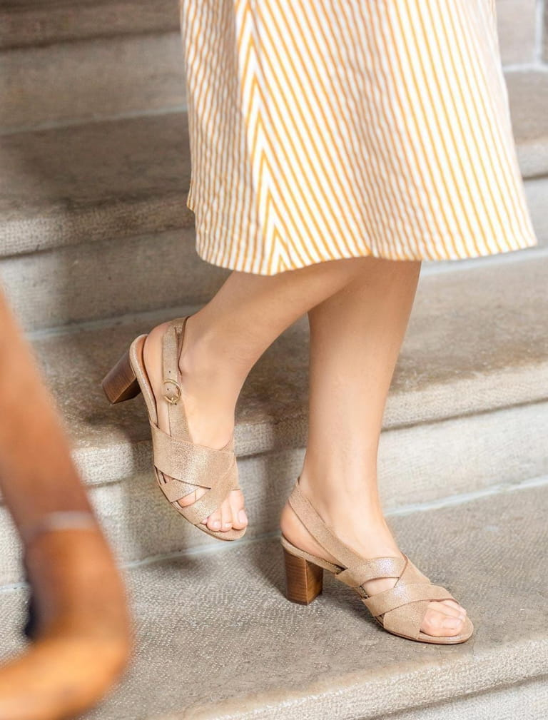 Giulia heeled sandals - Gold