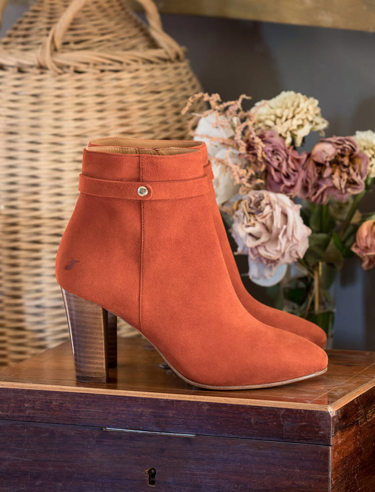 Bottines à talons Ysée - Terracotta