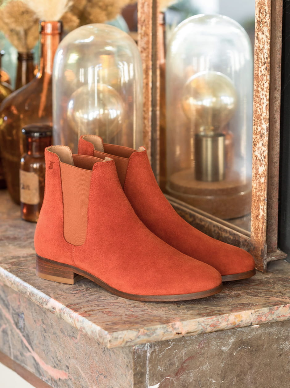 Anne Flat Chelsea Boots - Terracotta